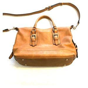 Urban Expressions Brown/Tan Hand Bag w/straps